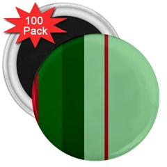 Green and red design 3  Magnets (100 pack)