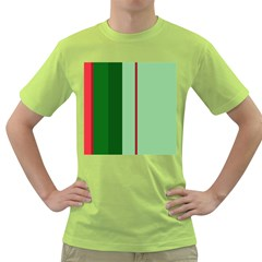 Green and red design Green T-Shirt