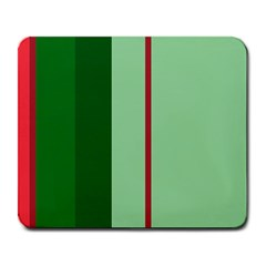 Green and red design Large Mousepads