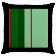 Green and red design Throw Pillow Case (Black)