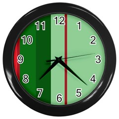 Green and red design Wall Clocks (Black)