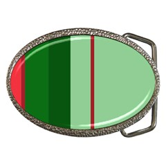Green and red design Belt Buckles
