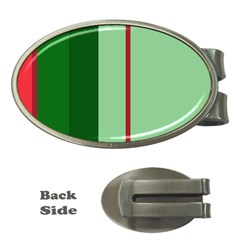 Green and red design Money Clips (Oval)