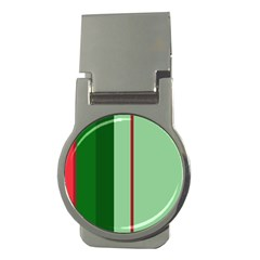 Green and red design Money Clips (Round)
