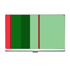 Green and red design Business Card Holders