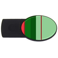 Green and red design USB Flash Drive Oval (2 GB)