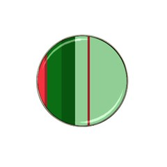Green and red design Hat Clip Ball Marker