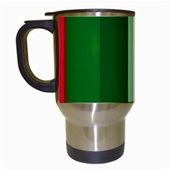 Green and red design Travel Mugs (White)