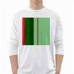 Green and red design White Long Sleeve T-Shirts