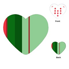 Green and red design Playing Cards (Heart)