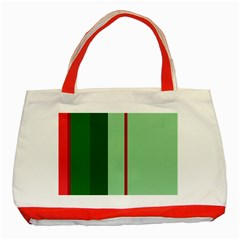 Green and red design Classic Tote Bag (Red)