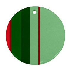 Green and red design Round Ornament (Two Sides)