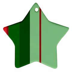 Green and red design Star Ornament (Two Sides)