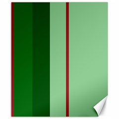 Green and red design Canvas 8  x 10