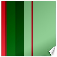 Green and red design Canvas 16  x 16