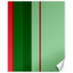 Green and red design Canvas 16  x 20
