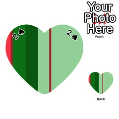 Green and red design Playing Cards 54 (Heart)