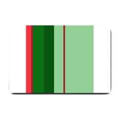 Green and red design Small Doormat
