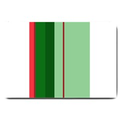 Green and red design Large Doormat