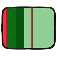 Green and red design Netbook Case (Large)