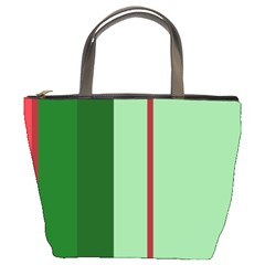 Green and red design Bucket Bags