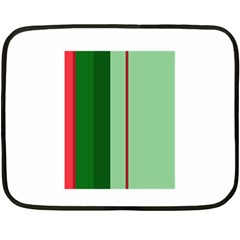 Green and red design Double Sided Fleece Blanket (Mini)
