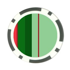 Green and red design Poker Chip Card Guards (10 pack)