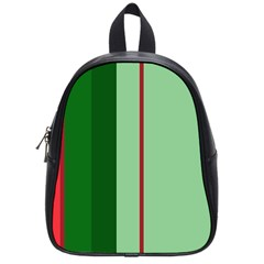 Green and red design School Bags (Small)