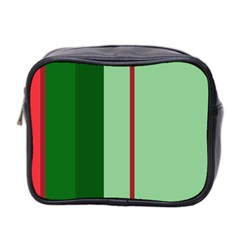 Green and red design Mini Toiletries Bag 2-Side