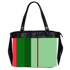 Green and red design Office Handbags (2 Sides)