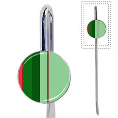 Green and red design Book Mark