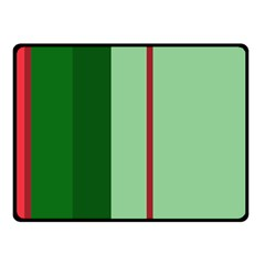 Green and red design Fleece Blanket (Small)