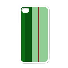 Green and red design Apple iPhone 4 Case (White)