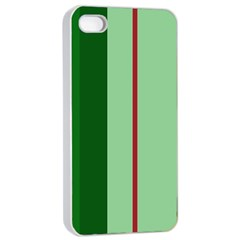 Green and red design Apple iPhone 4/4s Seamless Case (White)