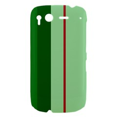 Green and red design HTC Desire S Hardshell Case