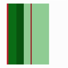 Green and red design Small Garden Flag (Two Sides)