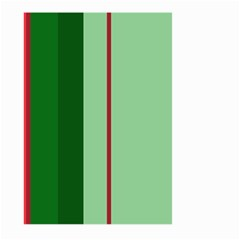 Green and red design Large Garden Flag (Two Sides)