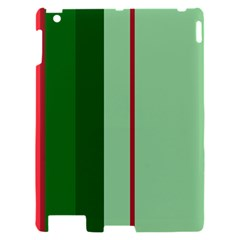 Green and red design Apple iPad 2 Hardshell Case