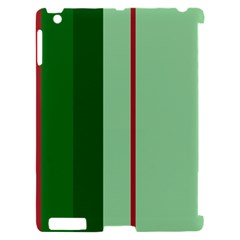 Green and red design Apple iPad 2 Hardshell Case (Compatible with Smart Cover)