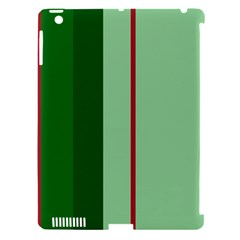 Green and red design Apple iPad 3/4 Hardshell Case (Compatible with Smart Cover)