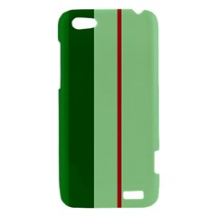 Green and red design HTC One V Hardshell Case