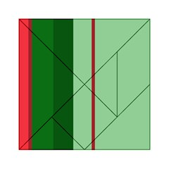 Green and red design Acrylic Tangram Puzzle (6  x 6 )