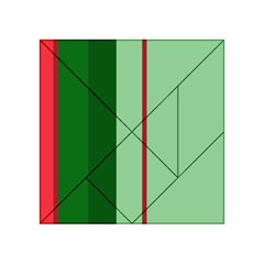 Green and red design Acrylic Tangram Puzzle (4  x 4 )