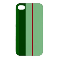 Green and red design Apple iPhone 4/4S Premium Hardshell Case