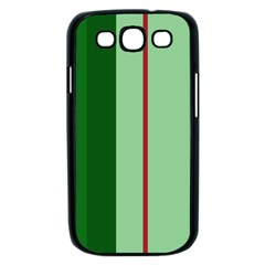 Green and red design Samsung Galaxy S III Case (Black)