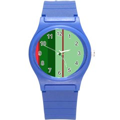 Green and red design Round Plastic Sport Watch (S)