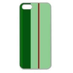 Green and red design Apple Seamless iPhone 5 Case (Clear)