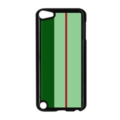 Green and red design Apple iPod Touch 5 Case (Black)