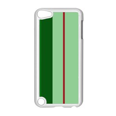 Green and red design Apple iPod Touch 5 Case (White)