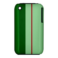 Green and red design Apple iPhone 3G/3GS Hardshell Case (PC+Silicone)